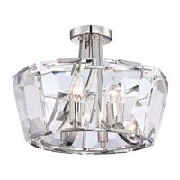 Metropolitan Castle Aurora 8 Light Semi-Flush in Polished Nickel N6987-613