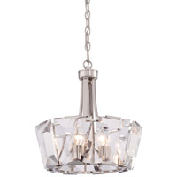 Metropolitan Castle Aurora 8 Light Pendant in Polished Nickel N6988-613