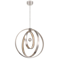 Metropolitan N6995-613-L Winter Solstice LED 28 inch Polished Nickel Chandelier Ceiling Light