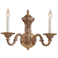 Signature 2 Light 15 inch Antique Classic Brass Wall Sconce Wall Light