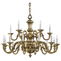 Signature 18 Light 38 inch Antique Brass Chandelier Ceiling Light