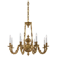 Signature 8 Light 33 inch Antique Brass Chandelier Ceiling Light