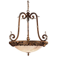 Metropolitan Verona  6 Light Pendant in Antique Pecan w/Silver Finish  N7043-300