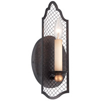 Metropolitan N7101-258B Cortona 1 Light 5 inch French Bronze with Gold Highlights ADA Wall Sconce Wall Light