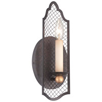 Metropolitan Cortona 1 Light Wall Sconce in French Bronze with Gold Highlights N7101-258B