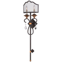 Metropolitan Cortona 2 Light Wall Sconce in French Bronze with Gold Highlights N7102-258B