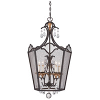 Cortona 5 Light 24 inch French Bronze/Gold Foyer Pendant Ceiling Light