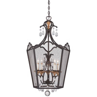 Metropolitan Cortona 5 Light Foyer Pendant in French Bronze with Gold Highlights N7105-258B
