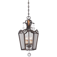 Cortona 4 Light 12 inch French Bronze/Gold Pendant Ceiling Light, Convertible To Semi Flush