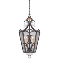 Metropolitan Cortona 5 Light Foyer Pendant in French Bronze with Gold Highlights N7109-258B