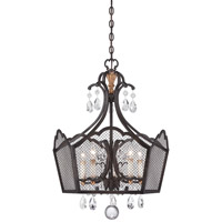Metropolitan Cortona 5 Light Chandelier in French Bronze with Gold Highlights N7111-258B