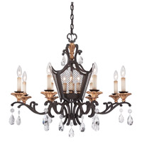 Metropolitan Cortona 12 Light Chandelier in French Bronze with Gold Highlights N7112-258B