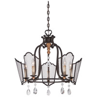 Metropolitan N7115-258B Cortona 5 Light 25 inch French Bronze/Gold Highlights Chandelier Ceiling Light