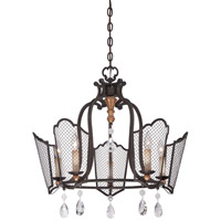 Metropolitan Cortona 5 Light Chandelier in French Bronze with Gold Highlights N7115-258B