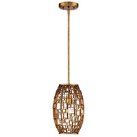 Abbondanza 1 Light 8 inch Halcyon Gold Mini Pendant Ceiling Light