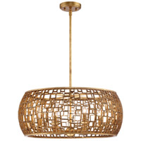 Metropolitan N7136-597 Abbondanza 6 Light 24 inch Halcyon Gold Chandelier Ceiling Light Convertible To Semi-Flush