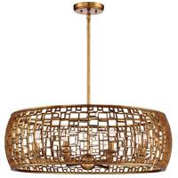 Metropolitan N7137-597 Abbondanza 8 Light 32 inch Halcyon Gold Chandelier Ceiling Light