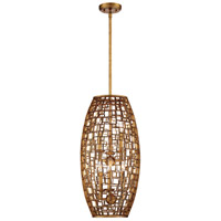 Abbondanza 8 Light 14 inch Halcyon Gold Pendant Ceiling Light