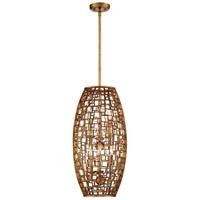 Metropolitan N7138-597 Abbondanza 6 Light 14 inch Halcyon Gold Pendant Ceiling Light