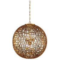 Abbondanza 8 Light 24 inch Halcyon Gold Chandelier Ceiling Light