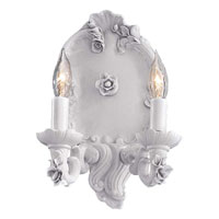 Metropolitan Metropolitan Family 2 Light Wall Sconce in Italian White Porcelain N719