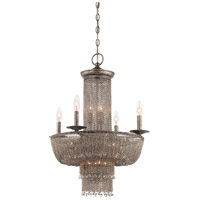 Shimmering Falls 15 Light 21 inch Antique Silver Chandelier Ceiling Light
