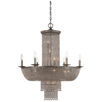 Shimmering Falls 18 Light 32 inch Antique Silver Chandelier Ceiling Light