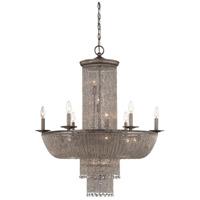 Metropolitan N7216-578 Shimmering Falls 18 Light 32 inch Antique Silver Chandelier Ceiling Light