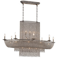 Shimmering Falls 25 Light 52 inch Antique Silver Island Light Ceiling Light