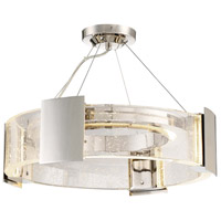 Stellaris LED 20 inch Polished Nickel Semi-Flush Mount Ceiling Light