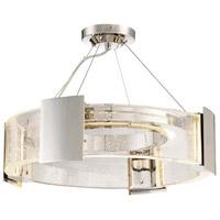 Metropolitan N7235-613-L Stellaris LED 20 inch Polished Nickel Semi-Flush Mount Ceiling Light