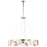 Stellaris LED 32 inch Polished Nickel Chandelier Ceiling Light