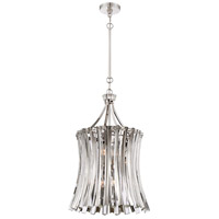 Elegance Royale 8 Light 16 inch Polished Nickel Foyer Pendant Ceiling Light