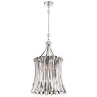 Metropolitan N7256-613 Elegance Royale 8 Light 16 inch Polished Nickel Foyer Pendant Ceiling Light