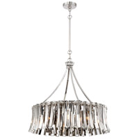Elegance Royale 8 Light 27 inch Polished Nickel Chandelier Ceiling Light