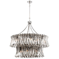 Metropolitan N7259-613 elegance Royale 12 Light 39 inch Polished Nickel Chandelier Ceiling Light