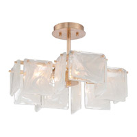Arctic Frost 4 Light 20 inch Antique French Gold Semi-Flush Ceiling Light