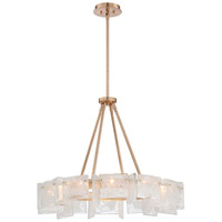 Metropolitan Arctic Frost 12 Light Chandelier in Antique French Gold N7287-595