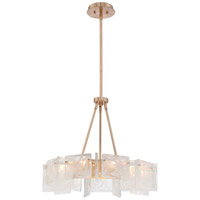 Metropolitan Arctic Frost 9 Light Chandelier in Antique French Gold N7289-595