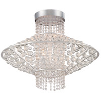 Saybrook 4 Light 18 inch Catalina Silver Semi Flush Mount Ceiling Light