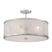Metropolitan Lake Frost 3 Light Semi-Flush in Polished Nickel N7403-613