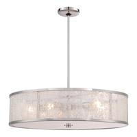 Metropolitan Lake Frost 5 Light Pendant in Polished Nickel N7405-613
