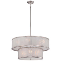 Metropolitan Lake Frost 8 Light Chandelier in Polished Nickel N7408-613
