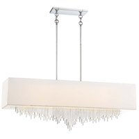 Crystal Cascade LED 40 inch Chrome Island Light Ceiling Light