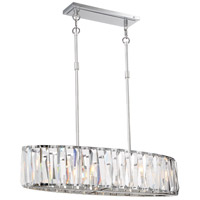 Coronette 6 Light 36 inch Chrome Island Light Ceiling Light
