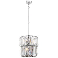 Coronette 8 Light 15 inch Chrome Pendant Ceiling Light