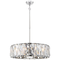 Coronette 8 Light 27 inch Chrome Chandelier Ceiling Light