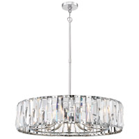 Coronette 10 Light 32 inch Chrome Chandelier Ceiling Light