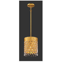 Metropolitan N7651-705 Kingsmont 1 Light 9 inch Glitz Gold Leaf Pendant Ceiling Light
