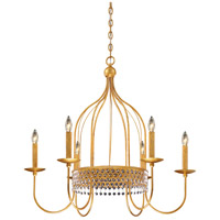 Metropolitan N7652-705 Kingsmont 6 Light 32 inch Glitz Gold Leaf Pendant Ceiling Light